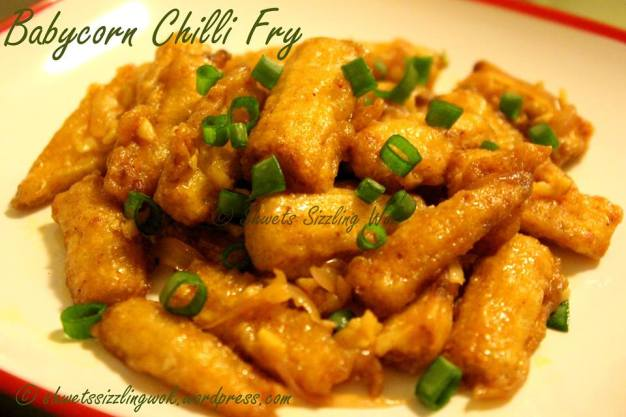 Babycorn chilli fry