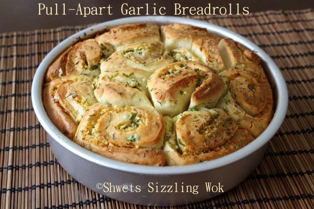 Pull Apart Garlic breadrolls