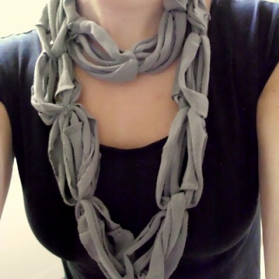 Recycled Tee Scarf    #recycle    Shwin&Shwin