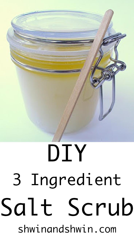 DIY Salt Scrub || Only 3 Ingredients