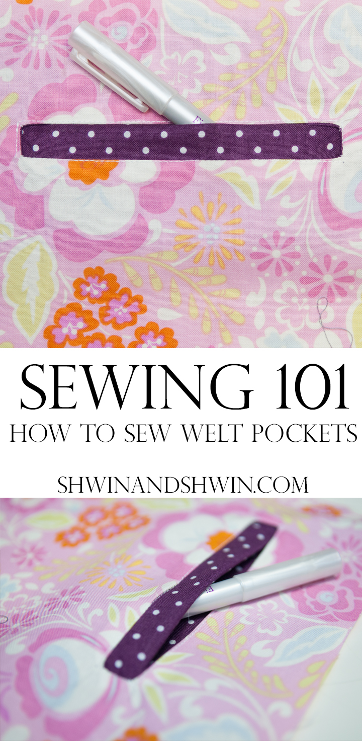 Welt Pockets || Sewing 101 || Shwin&Shwin
