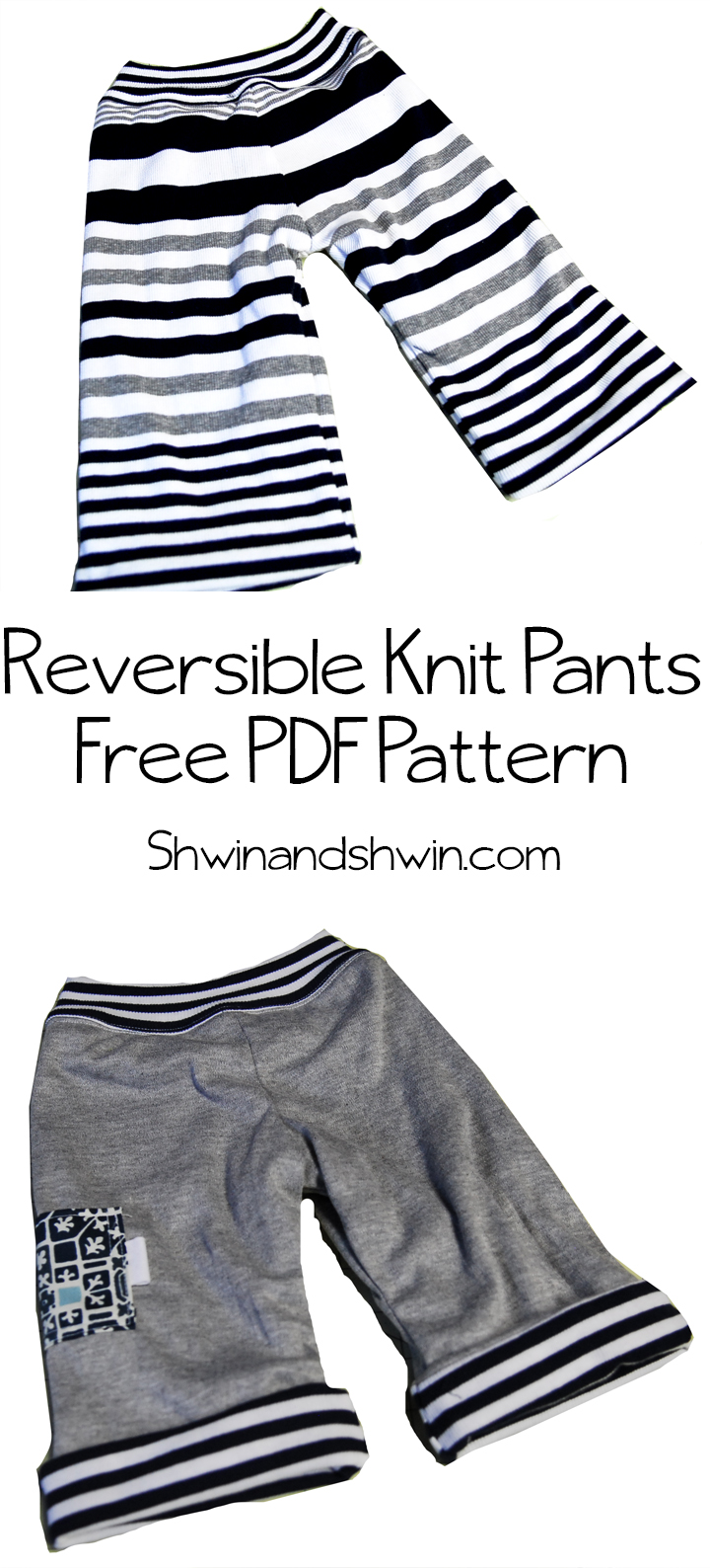 Reversible Knit Pants || Free Pattern for Baby