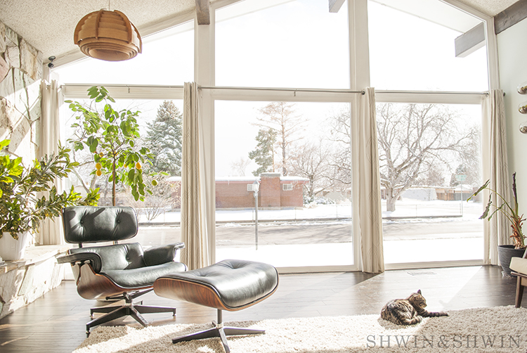 Mid century modern home renovation || A frame living room
