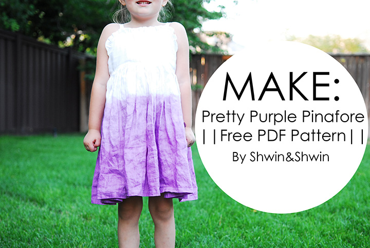 Pretty Purple Pinafore || Free Pattern