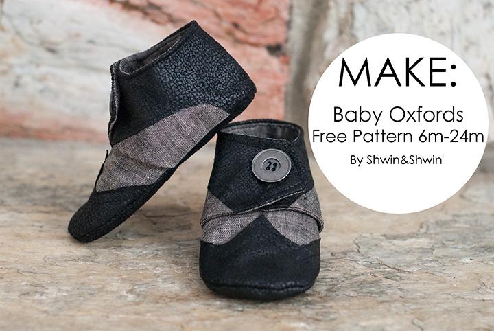 Baby Oxfords || Free Pattern - Shwin and Shwin