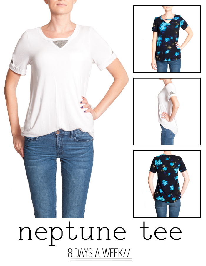 8 Days a Week Collection || Neptune Tee || Women's Patterns