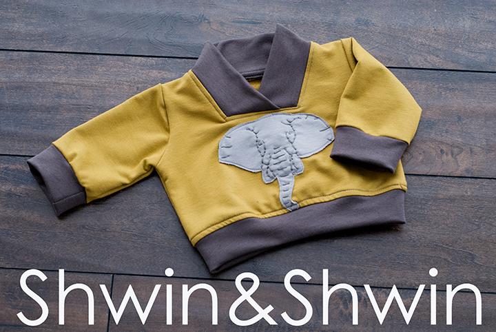 Embroidered Elephant Sweatshirt    Free PDF Pattern&Template    Shwin&Shwin
