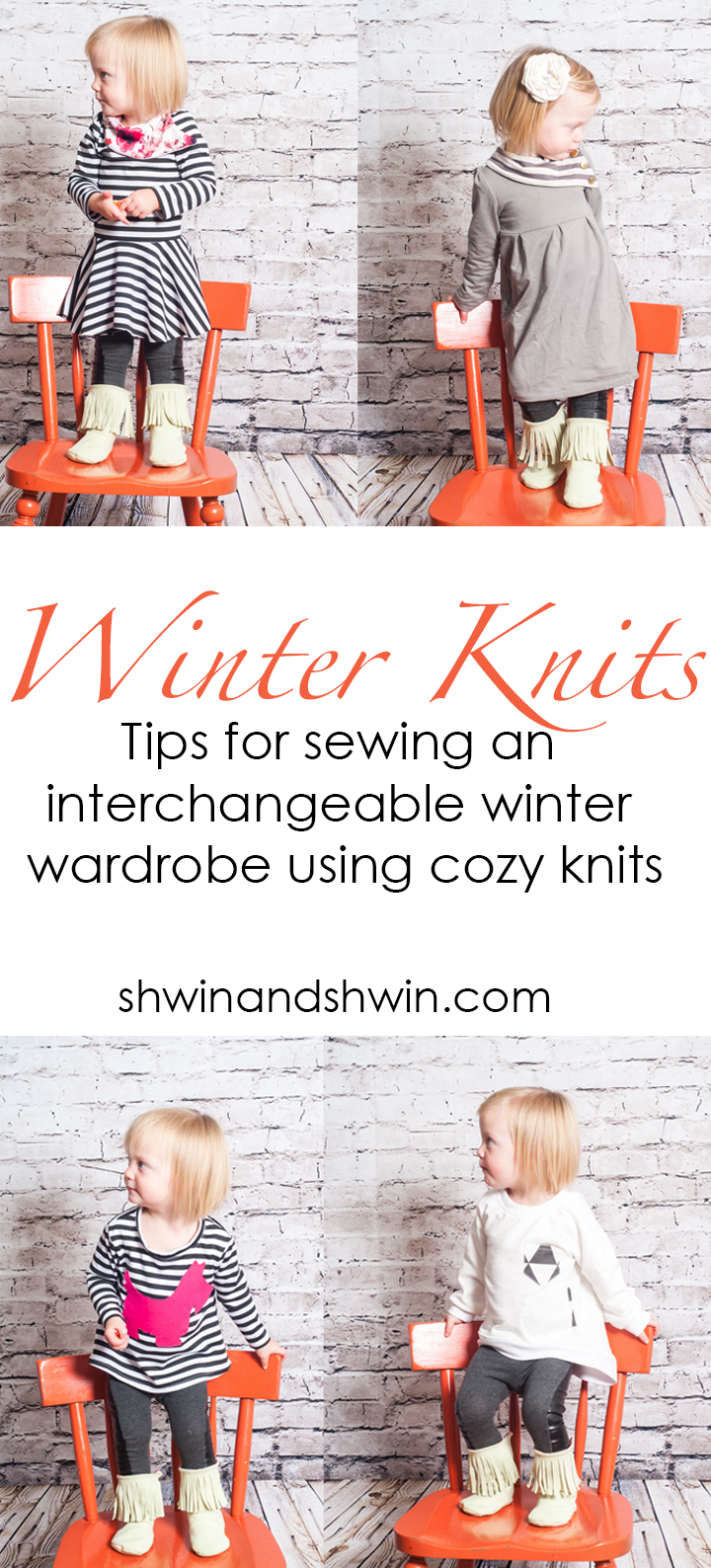 Winter knits || Tips for sewing an interchangeable winter wardrobe using cozy knits || Shwin&Shwin