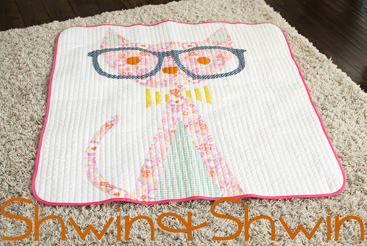 Hipster Cat Quilt || Free PDF Pattern || Shwin&Shwin