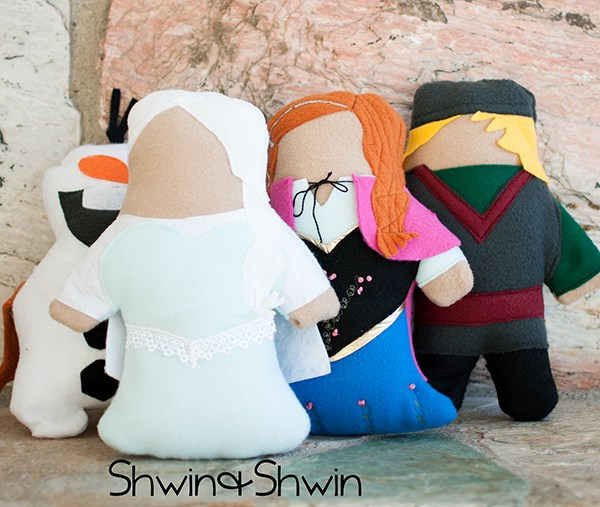 Princess Sofites || Frozen inspired dolls || FREE pattern || shwin&shwin