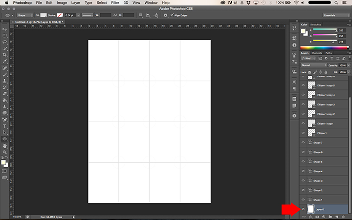 How to make a PDF Pattern using Photoshop || Step by step from sketch to print