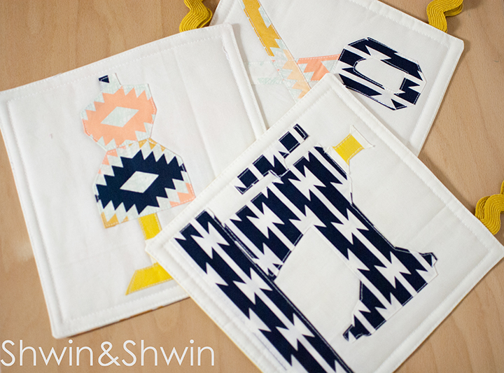 {Sewing} Quilted Hot Pads    FREE Pattern    Shwin&Shwin