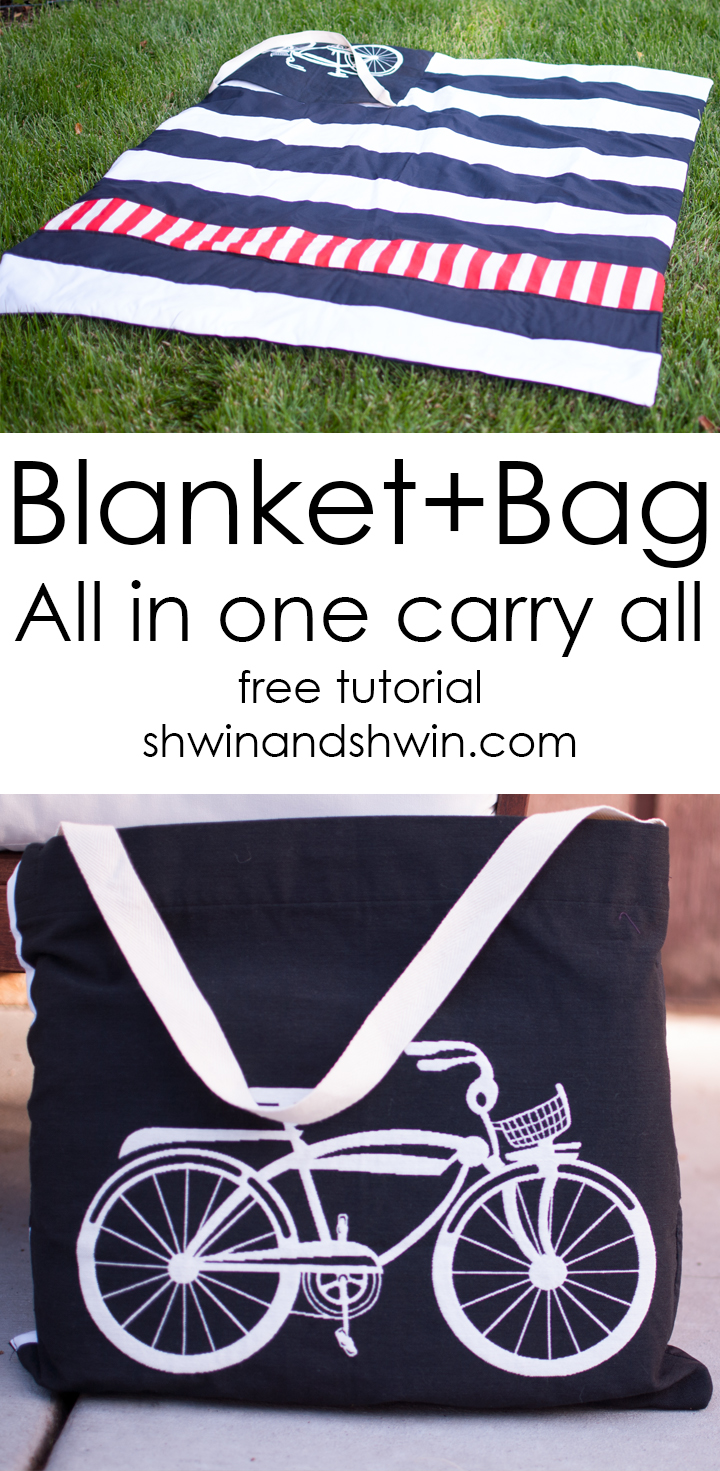 Blanket+Bag All in One || Square by Design Fabric #joann  || Shwin&Shwin