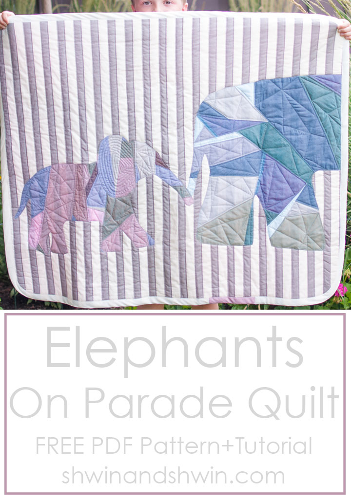 Elephants on Parade Quilt || Free PDF Pattern + Tutorial || Shwin&Shwin #Quilting