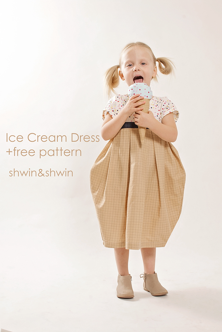 Doll Fabric Tour|| Ice Cream Dress || Free Pattern