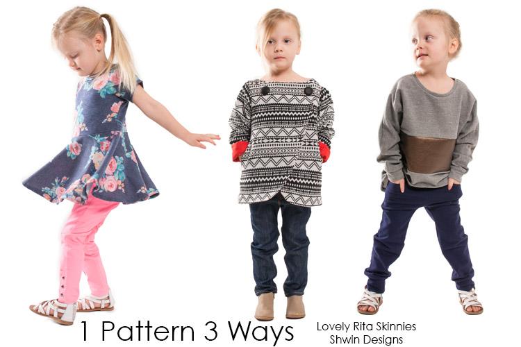 Lovely Rita Skinnies || One Pattern 3 ways