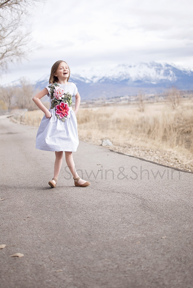 Embroidered Floral Easter Dress || Shwin&Shwin