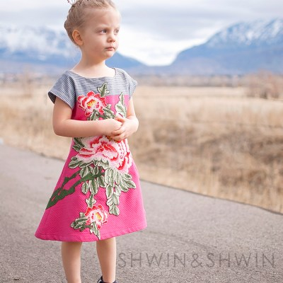 Floral Embroidered Easter Dress || Version 2