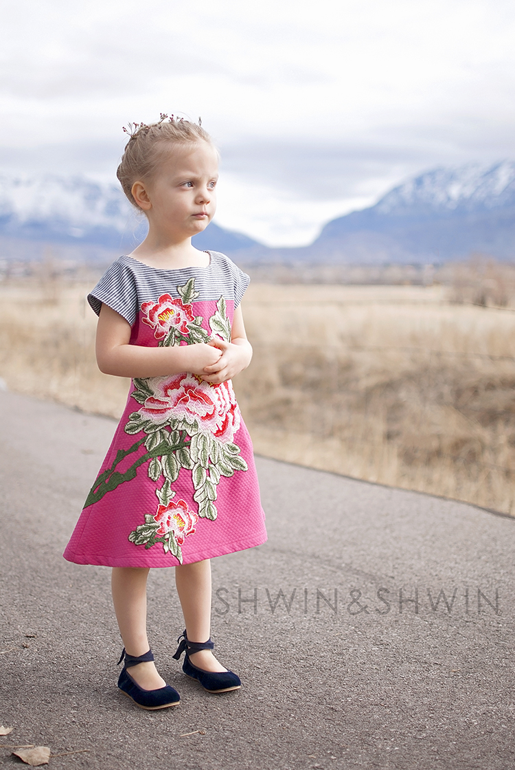 Embroidered Floral Easter Dress || Version 2 || Shwin&Shwin