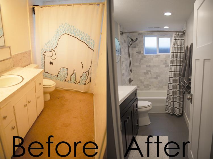 Bathroom Renovation Downstairs Bath Black And White Bathroom - Bathroom renovation time