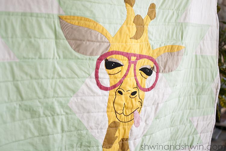 Giraffe quilt applique pattern shwin and shwin