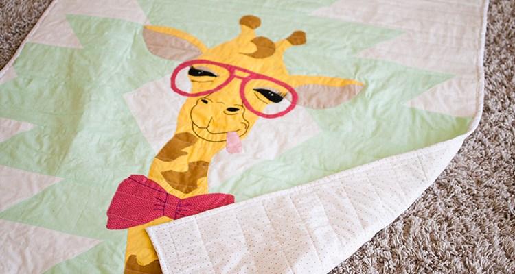 Giraffe Quilt Applique Pattern