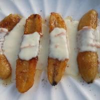Caramelized Banana with Crème Anglaise (Eggless)