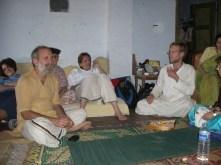 Shyamdas entertains guests in Gokul