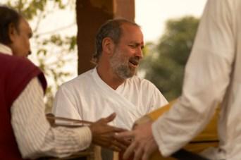 Singing at Rasakhan Samadhi, Gokul