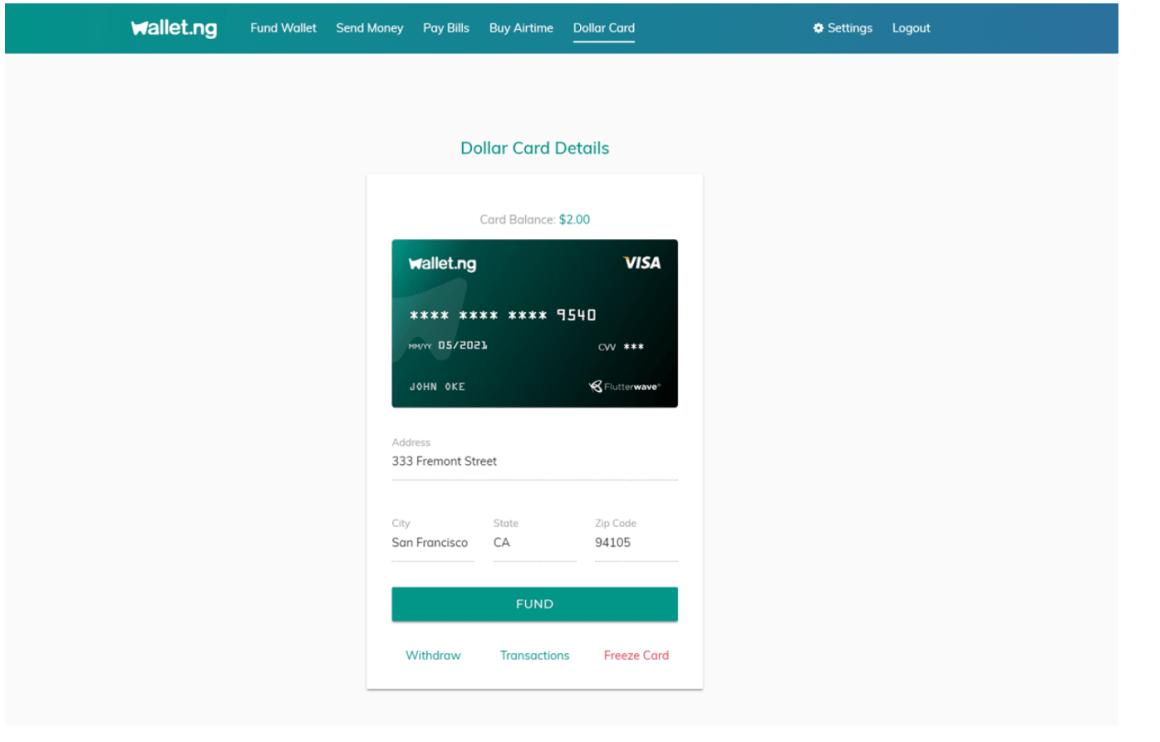 Virtual Credit Card in Nigeira