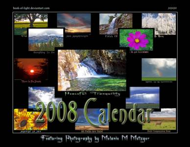 2008 Calendar By Book Of Light