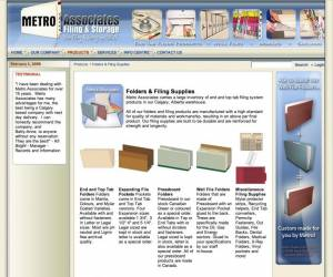 Metro Associates Filing & Storage 2001 .Net Ecommerce Website
