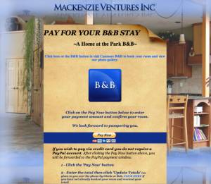 Mackenzie Ventures Inc Accont Payments & Booking Website HTML 2008