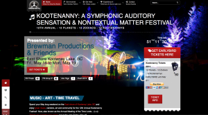 Kootenanny Music & Arts Festival 2014 Website