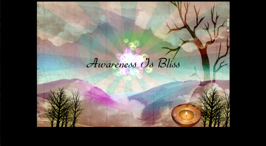 Awareness Is Bliss Flash Landing Page