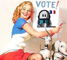 Affiche de la campagne présidentielle robotique 2012.