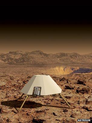 Le robot sauteur martien d'Astrium et de l'université de Leicester.