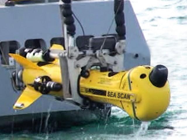 Robot Sous-Marin autonome de la société  française ECA Robotics.