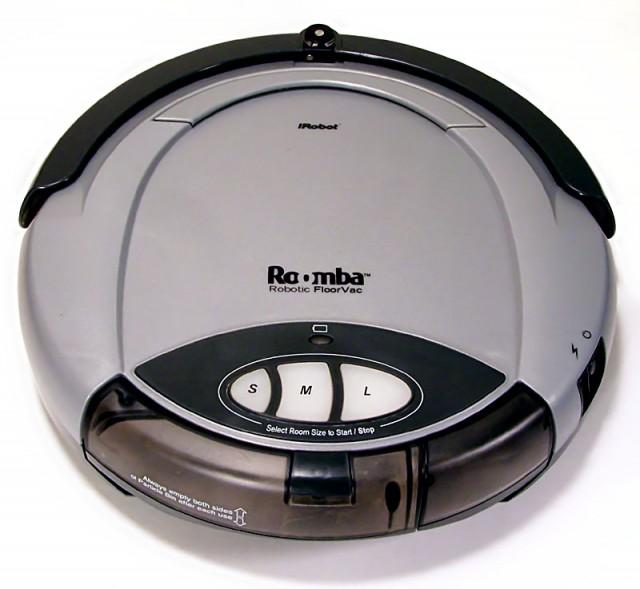 La première version commercialisée du Roomba de iRobot (Image issue de Wikipedia)