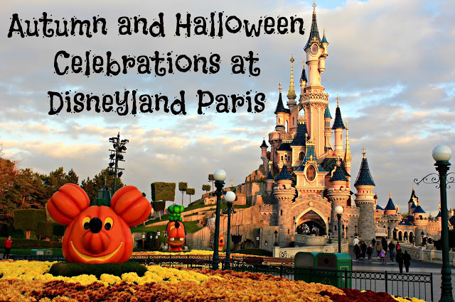 Mickey pumpkin in front of the castle during Halloween at Disneyland Paris