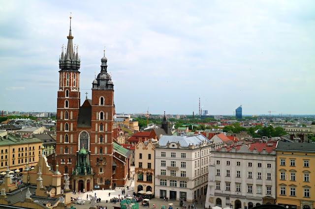 View of Karkow city centre