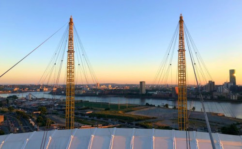 view from the top of the o2 a unique London Observation Points