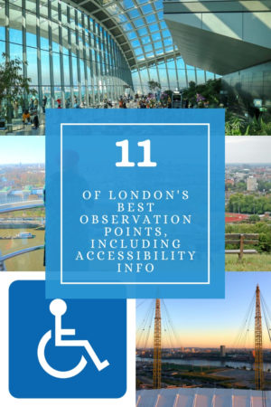 London's accessible observation points pinterest pin