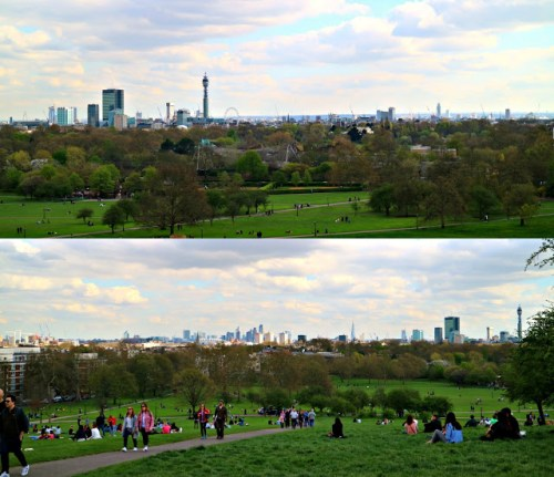 View from Primrose Hill one of the most famous London Observation Points