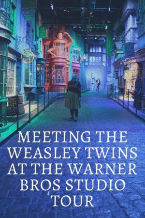 Meeting the Weasley Twins at the Warner Bros Studio Pinterest Pin