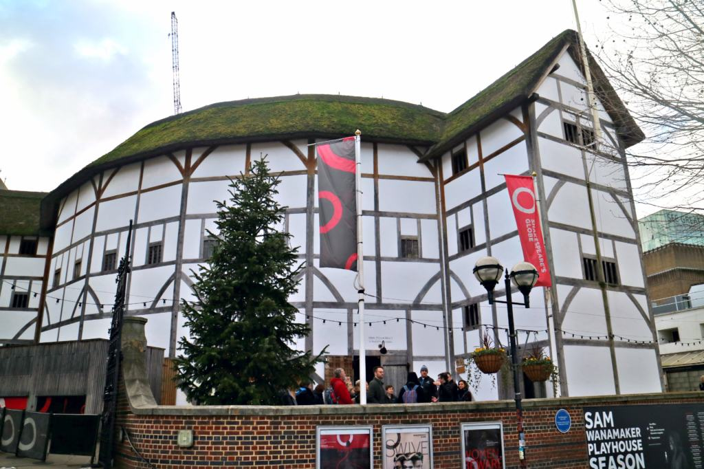 The external view of the Globe Theatre