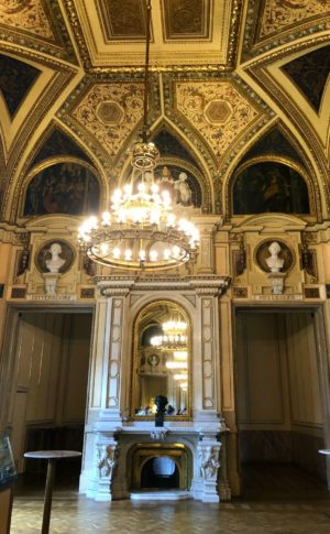 one of the state rooms from the Vienna Opera House