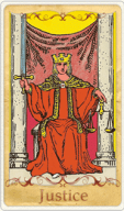 The Justice Tarot Card basato su Rider-Waite