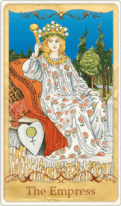 La carta dei Tarocchi Imperatrice basata su Rider-Waite