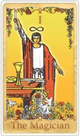 The Magician Tarot Card basato su Rider-Waite